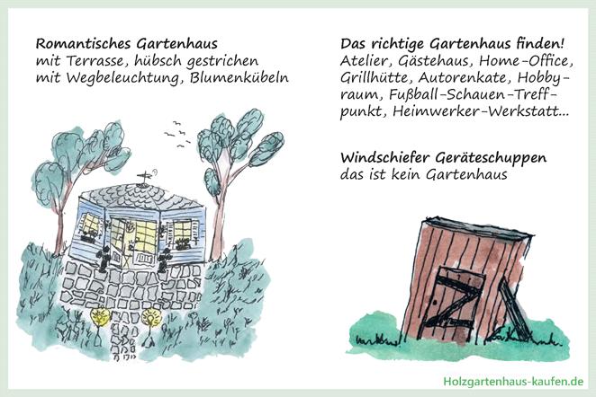 Holzgartenhaus Suchen und Finden: Infos & Beispiele