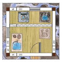 Stelzenhaus Bad und Küche in einer Hütte