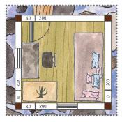 Stelzenhaus am Wasser  Grundriss Wohnzimmer