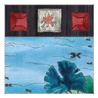 Anglerhütte, Fischerhütte Gartenhaus am See: idyllische Feuerstelle und Sessel