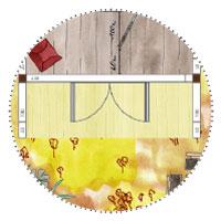 Billardzimmer-Gartenhaus kleiner Raum Windschutz Terrasse