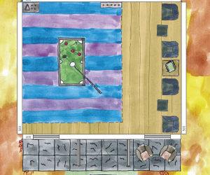 Billardzimmer im Gartenhaus planen – Skizze: Wie viel Platz braucht man dafür?