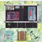 Fitness-Holzgartenhaus planen und einrichten mit Hantelbank und Boxsack