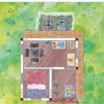 Gästehaus Gartenhaus Planungs Beispiel mit WC und Dusche
