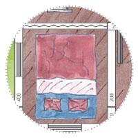 Gästehaus-Gartenhaus planen: Schlafraum (Faltwand oder schwerer Vorhang)