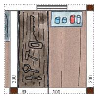 Gartenhaus mit 4 abgetrennten räumen - Werkbank, Werkstatt