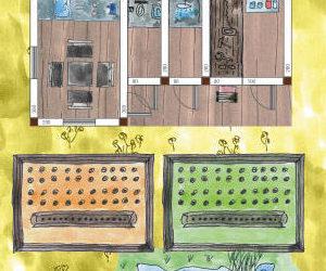 Gartenhaus mit 4 Räumen gestalten zum Gärtnern und Werkeln