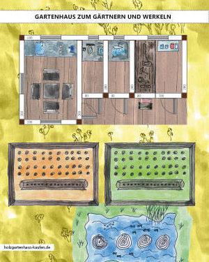 gartenhaus mit 4 r umen gestalten zum g rtnern und werkeln. Black Bedroom Furniture Sets. Home Design Ideas