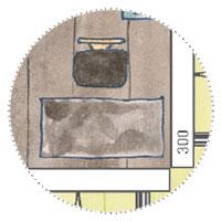 Künstler Atelier Gartenhaus planen mit Skizzentisch, Schreibtisch