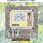 Musikzimmer im Gartenhaus einrichten und planen