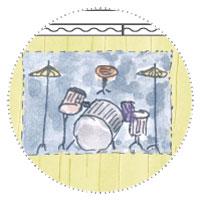 Musikzimmer einrichten im Gartenhaus: Schlagzeug