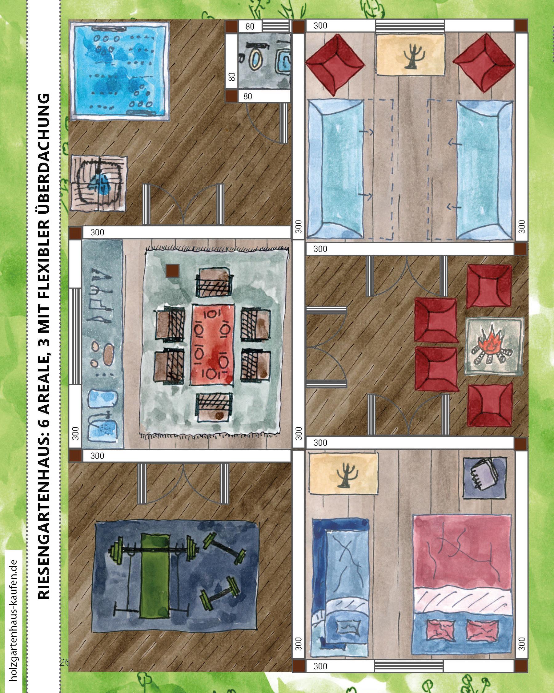 Riesengrosses Gartenhaus Planen 6 Raume 3 Mit Flexibler Uberdachung
