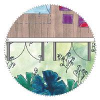 Schmales Gartenhaus: Doppelflügeltüren - Grosse Fenster & Sichtfläche aufs Meer