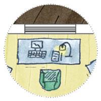 6 Eck Gartenhaus zum Gamer, zocken: Computertisch mit Gamer-Laptop