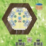 Sechseckiges Gamer Gartenhaus zum Zocken und Programmieren