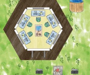 6-eckiges Gamer-Gartenhaus: Zocker-Paradies planen und einrichten