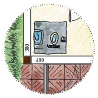 Wellnessgartenhaus: Sanitäranlagen