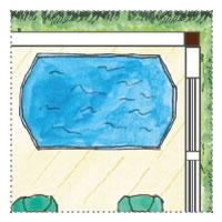 Wellness-Landschaft im Gartenhaus-Whirlpool
