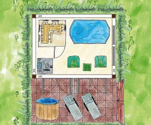 Der Traum: Eigenes Wellnessgartenhaus planen und einrichten, so geht's