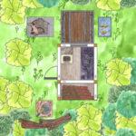 Gartenhaus-Holzwerkstatt und Holzfällerhütte und Hundehütte aus Holz