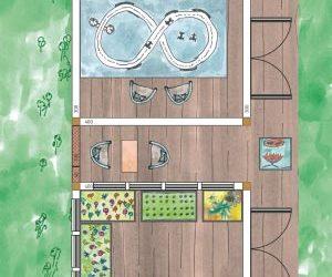 Hobby Gartenhaus und Gewächshaus auf einer Terrasse planen
