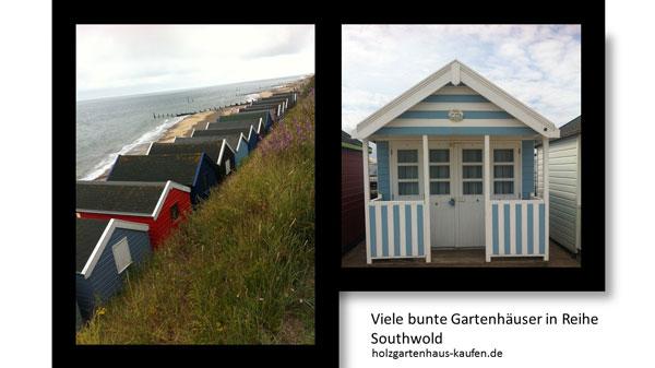 Farbiges Design für Gartenhäuser Strandhäuser